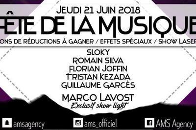 Sloky - Romain Silva - Florian Joffin (Fête de la Musique 2018) à Epernay