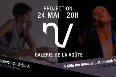 Soirée Projection de courts metrages à la Galerie de la Voûte à Paris 12ème