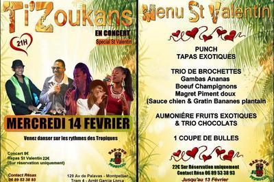 Soirée St Valentin | Ti'zoukans En Concert Live & Repas à Montpellier
