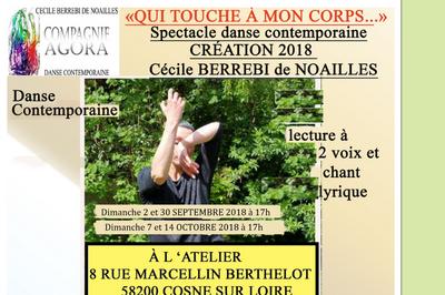 Spectacle Qui Touche à Mon Corps... à Cosne sur Loire