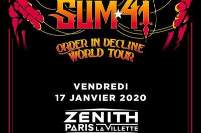 Sum 41 à Paris 19ème