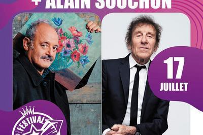 Louis Chedid et Alain Souchon à Carcassonne