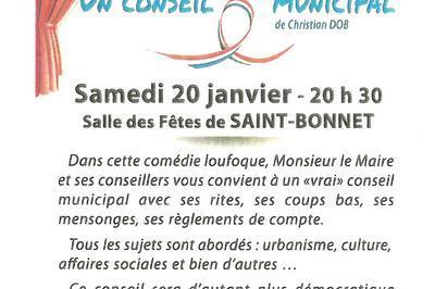 Un conseil très municipal à Saint Bonnet