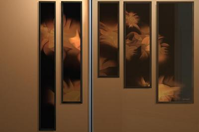 Un Polyptyque De Guillaume Bottazzi Illumine L'entrée Cathédrale De La Résidence Étudiante Georges Méliès À Montreuil