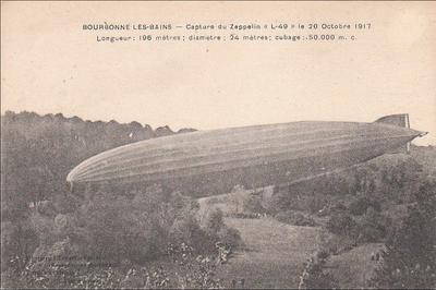 Un Zeppelin En Rase Campagne à Bourbonne les Bains
