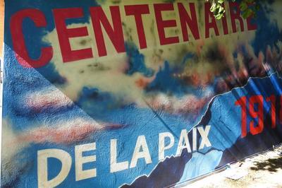 Vernissage De La Fresque « Mémoire Et Paix » à Montaud