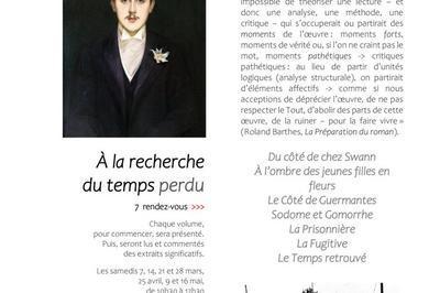 Lecture de Proust à Asnieres sur Seine
