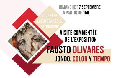 Visite commentée de l'exposition de Fausto Olivares à Mont de Marsan