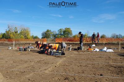 Visite D'un Site Néolithique En Cours De Fouille à Noyers sur Cher