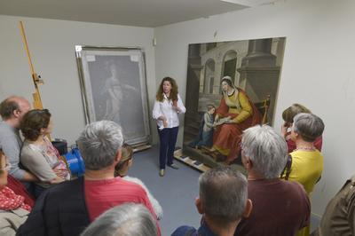 Visite Guidée De L'atelier De Restauration De Peinture Et Arts Graphiques à Niort