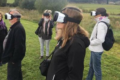 Visite Guidée Du Site Avec Des Casques 3d à Javols
