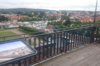 Vue Panoramique Du Toit Du Château Des Rohan à Saverne