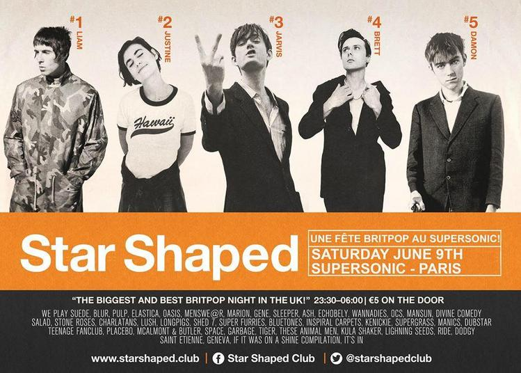 Star Shaped Club Paris - Une Fête Britpop D'été à Paris 12ème