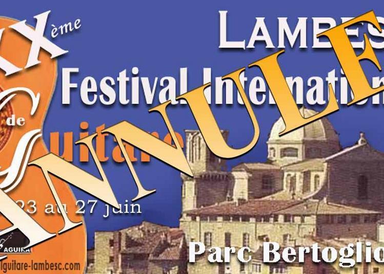 20ème Festival International de Guitare  Lambesc 2020