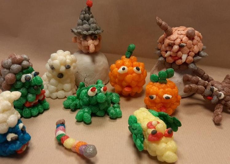 Fabrication d'un sujet « Halloween » en billes de flocons de maïs à Wintzenheim