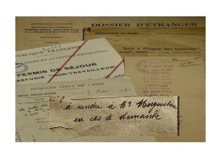 A rendre à M. Morgenstern en cas de demande à Lyon