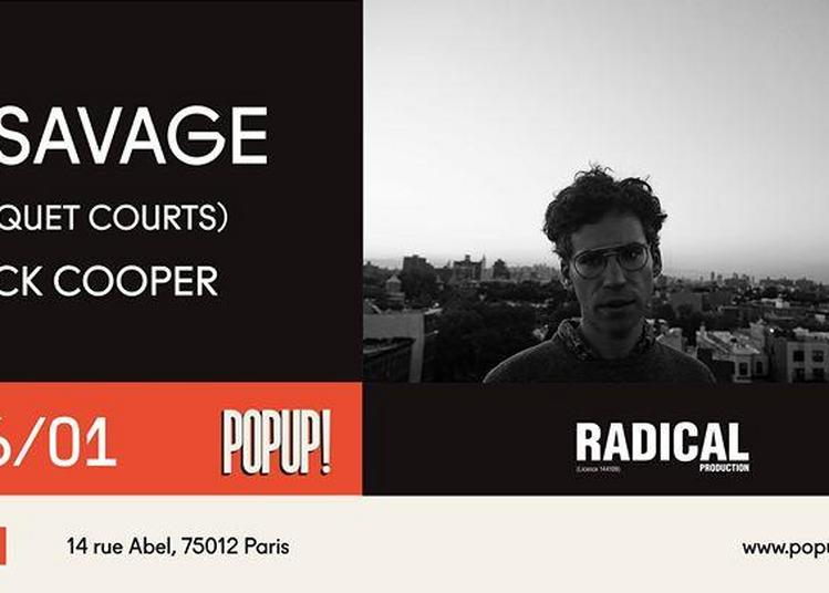 A. Savage (Parquet Courts) + Jack Cooper à Paris 12ème
