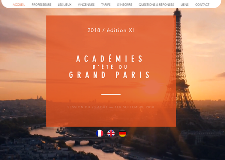 Académies d'été du grand Paris 2018 à Vincennes