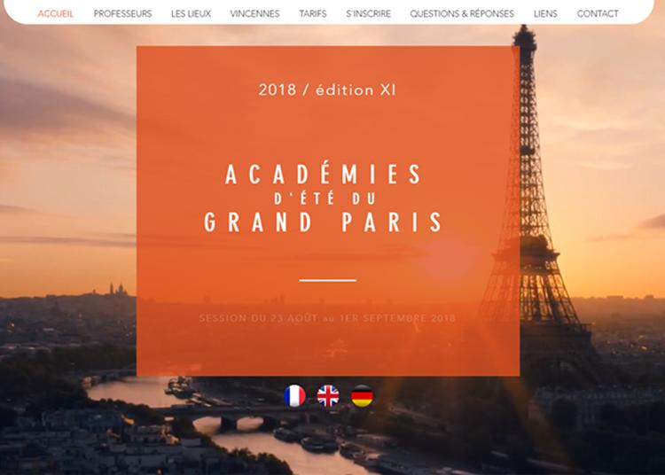 Académies d'été du grand Paris 2018 à Vincennes