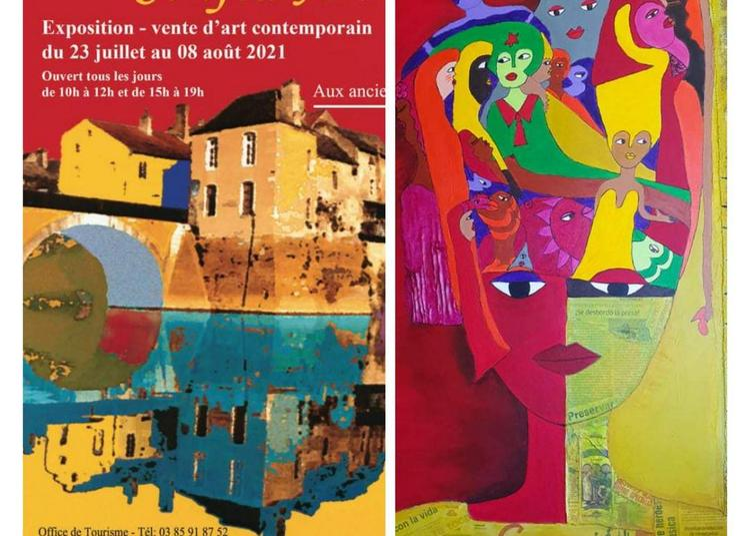 Aconcha artiste franco-cubaine participe à Conflu'art  expo-vente d'art contemporain à Verdun sur le Doubs