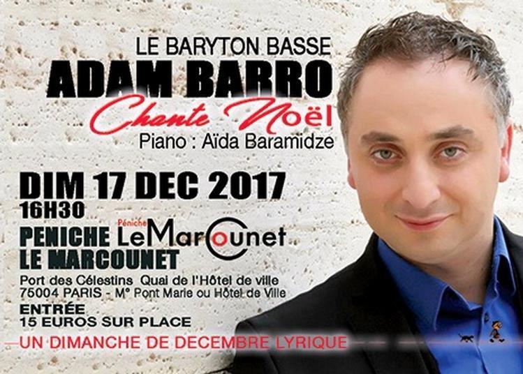 Adam Barro chante Noël à Paris 4ème