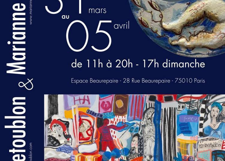 Marianne Le Vexier et Martine Letoublon à Paris 10ème