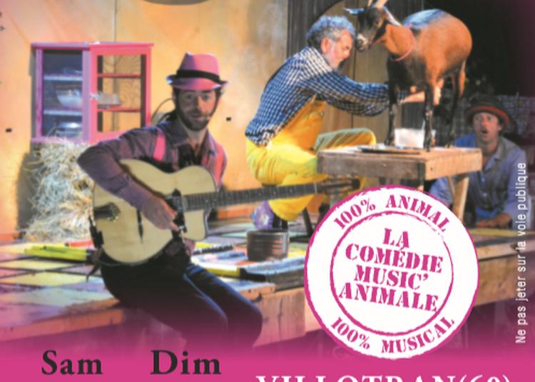 Chasse aux oeufs et spectacle à la ferme La Comédie Music'Animale à Villotran