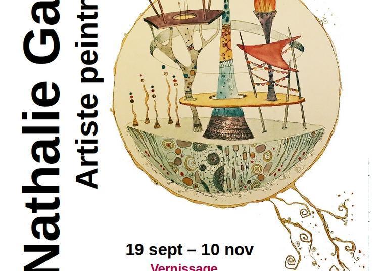 Exposition peinture à l'Escabeau Volant. Nathalie Gauvin - Aquarelle à Chamalieres