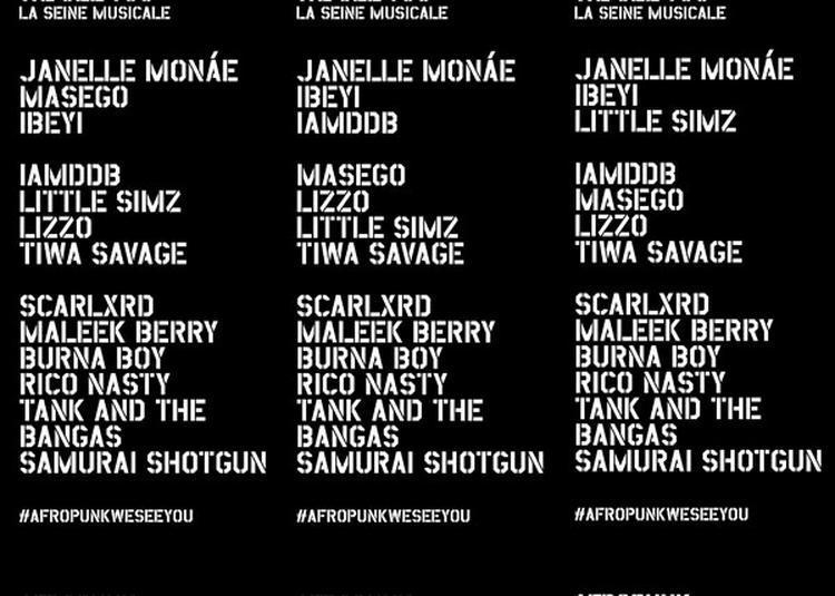 Afropunk Fest Paris -13 Juillet 2019 Vip à Boulogne Billancourt