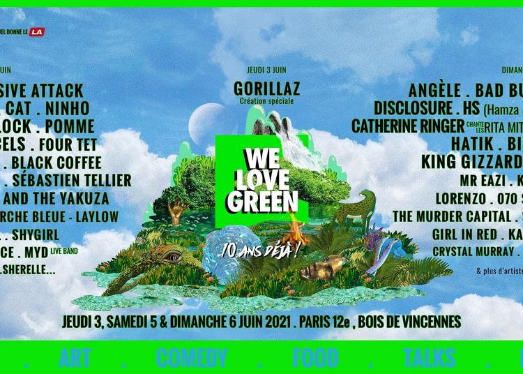 We Love Green 2021 Pass 2 jours à Paris 12ème