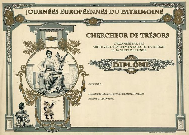 Animation «chasse Au Trésor» Aux Archives Départementales. à Valence