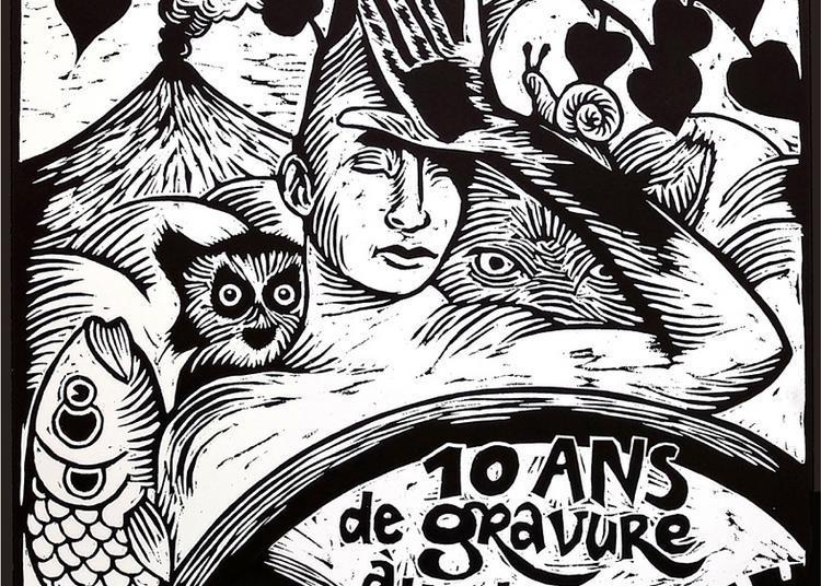 10 ans de gravure à l'atelier à Toulouse
