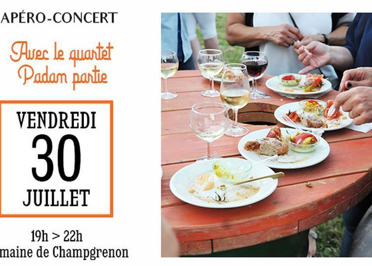 Apéro concert avec le quartet Padam Partie à Charnay les Macon