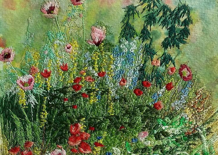 Aquarelles Brodées: L'âme Romantique à Versailles