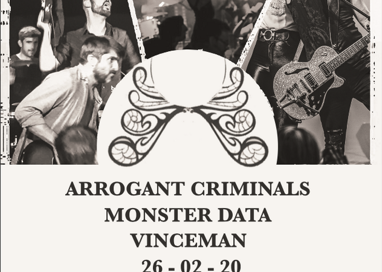 Arrogant Criminals + Monster Data + Vinceman à Paris 13ème