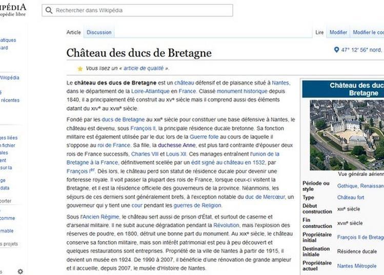 Atelier De Contribution à Wikipédia - Matrimoine à Nantes