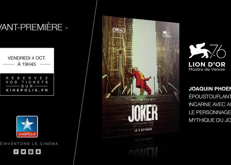 Avant Première Joker à Rouen
