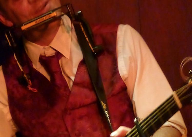 Barefoot Iano blues australien voix, guitare & harmonica à Grenoble