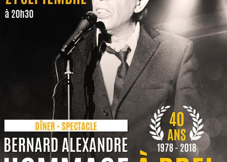 Bernard Alexandre Hommage A Brel à Sete