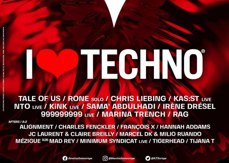I Love Techno - Billet Samedi à Perols le 11 décembre 2021
