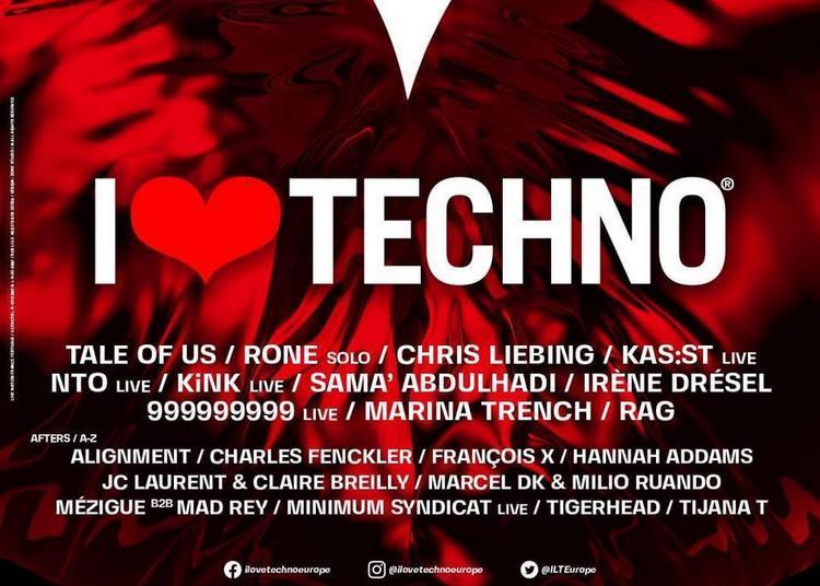 I Love Techno - Billet Vendredi à Montpellier le 10 décembre 2021