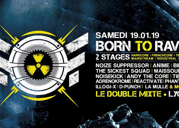 19/01/19 - BORN TO RAVE - LE DOUBLE MIXTE - LYON  / 2 STAGES - Hard Beat ! à Villeurbanne