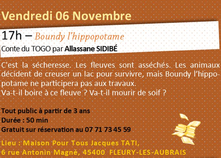 Boundy l'hippopotame à Orléans