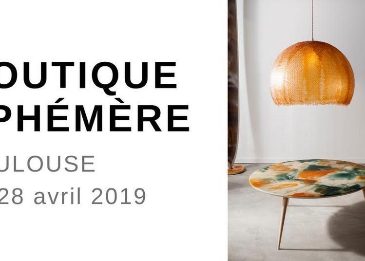 Boutique éphémère, meubles d'artisans à Toulouse