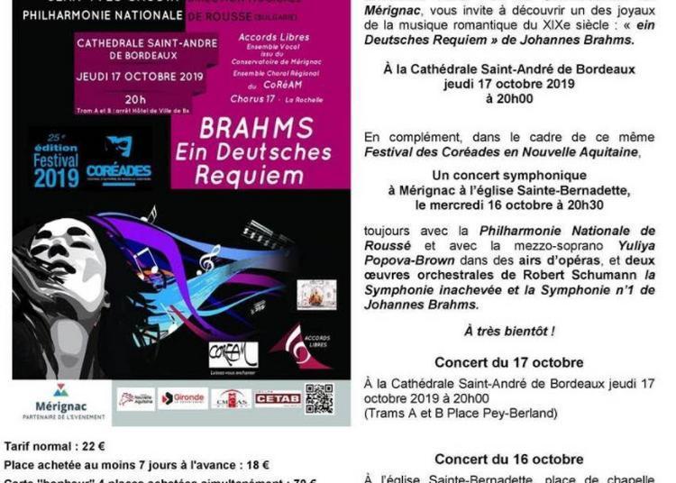 Brahms Ein Deutsch Requiem à Merignac
