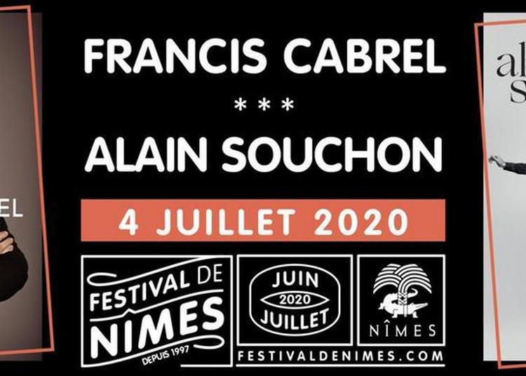 Francis Cabrel et Alain Souchon à Nimes