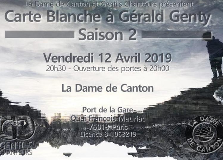Carte Blanche A Gerald Genty à Paris 13ème