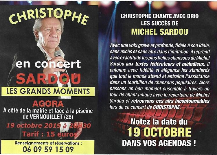 Christophe Chante Sardou à Vernouillet