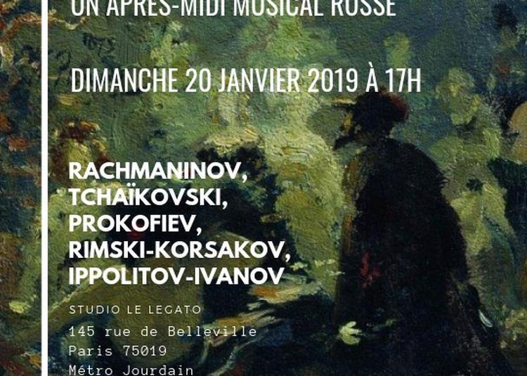 Concert de musique russe à Paris 19ème