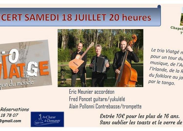Concert du trio Viatgé à Domange à Ige
